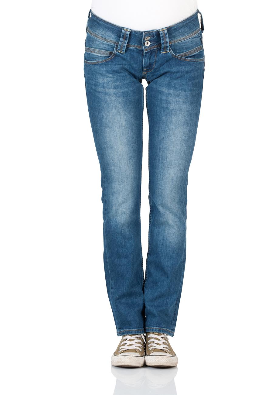 Pepe Jeans Damen Jeans Venus Regular Fit Denim Tiefer Bund Reißverschluss Stone Washed W 31 L 30 JD-187049