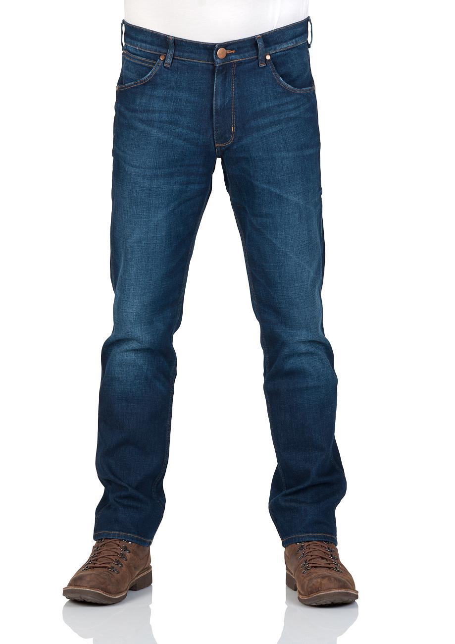 wrangler herren jeans greensboro regular fit blau for real ebay. Black Bedroom Furniture Sets. Home Design Ideas