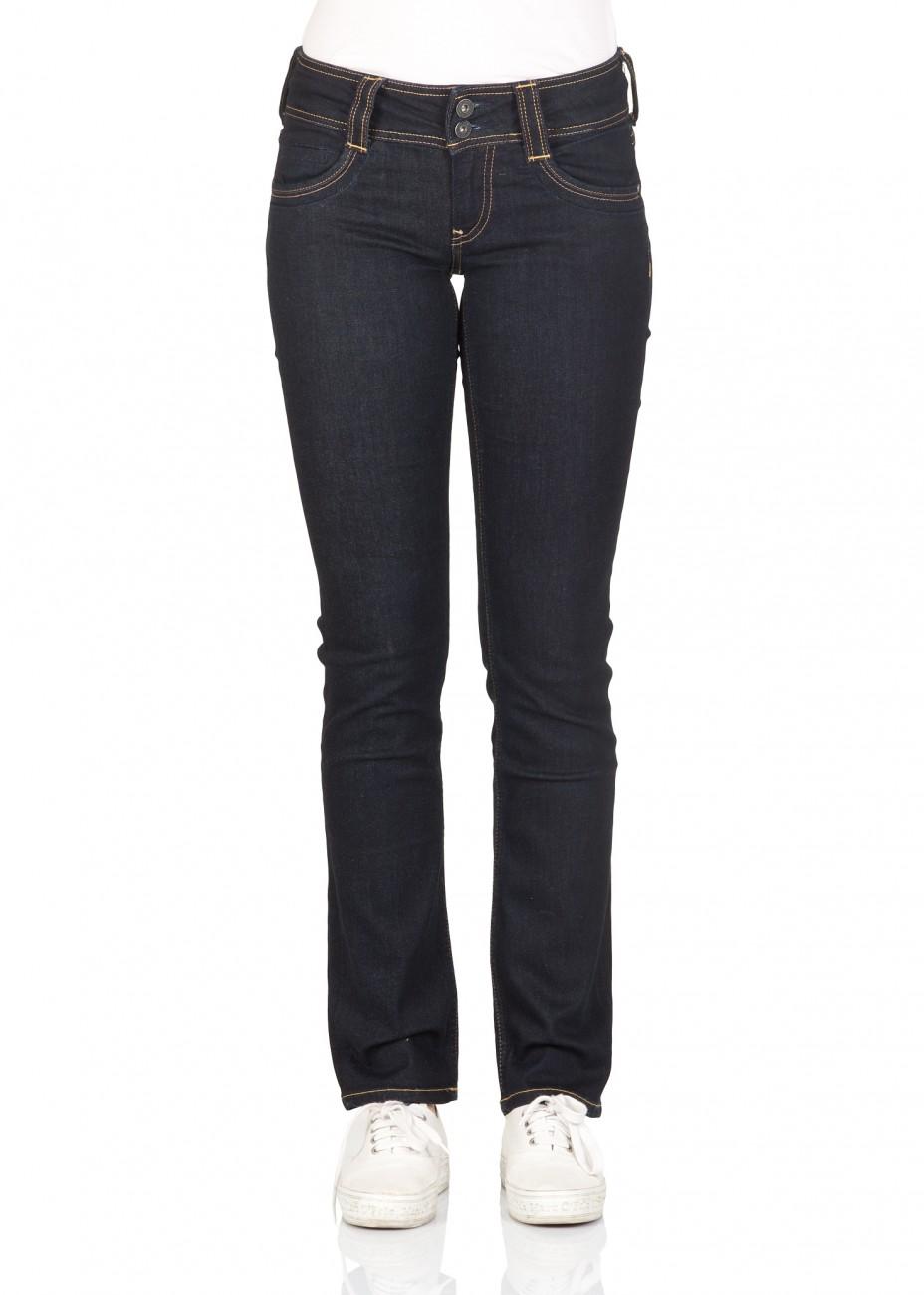 pepe jeans london damen jeans gen straight fit blau rinse plus denim kaufen jeans direct de. Black Bedroom Furniture Sets. Home Design Ideas