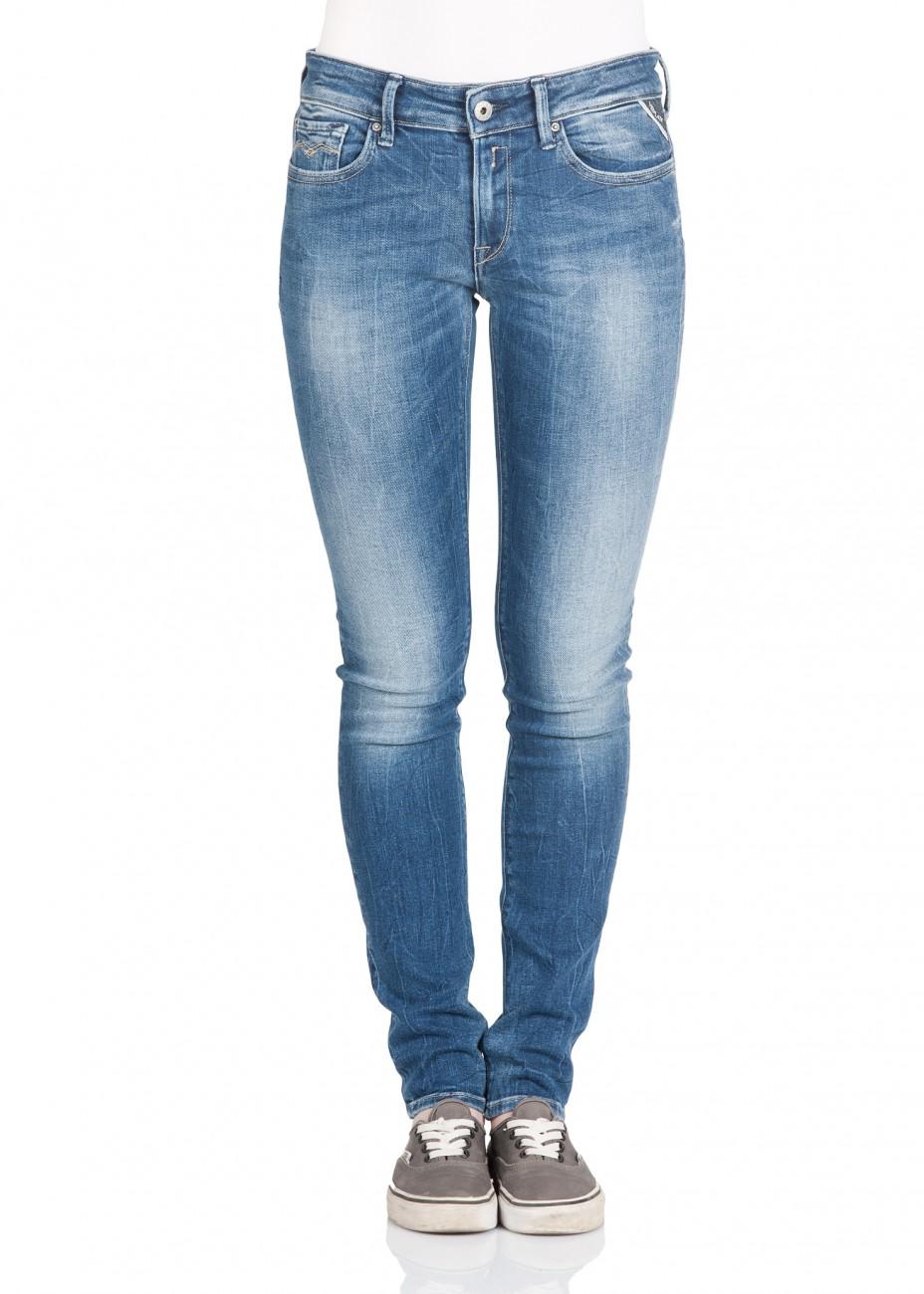replay damen jeans luz skinny fit blau blue used. Black Bedroom Furniture Sets. Home Design Ideas