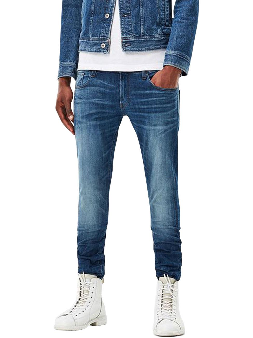 g star herren jeans 3301 deconstructed slim fit blau. Black Bedroom Furniture Sets. Home Design Ideas