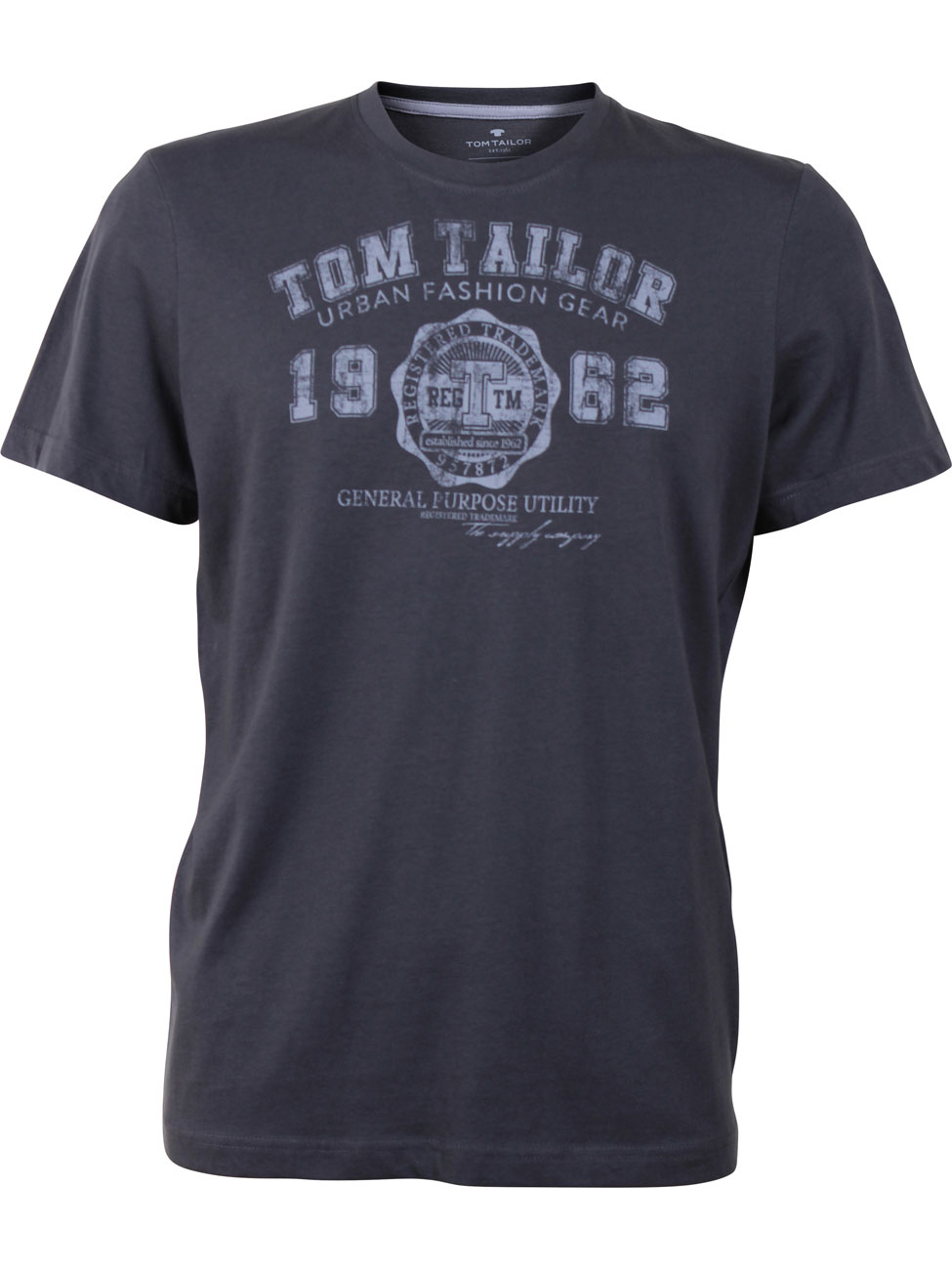 tom tailor herren t shirt logo tee basic ebay. Black Bedroom Furniture Sets. Home Design Ideas