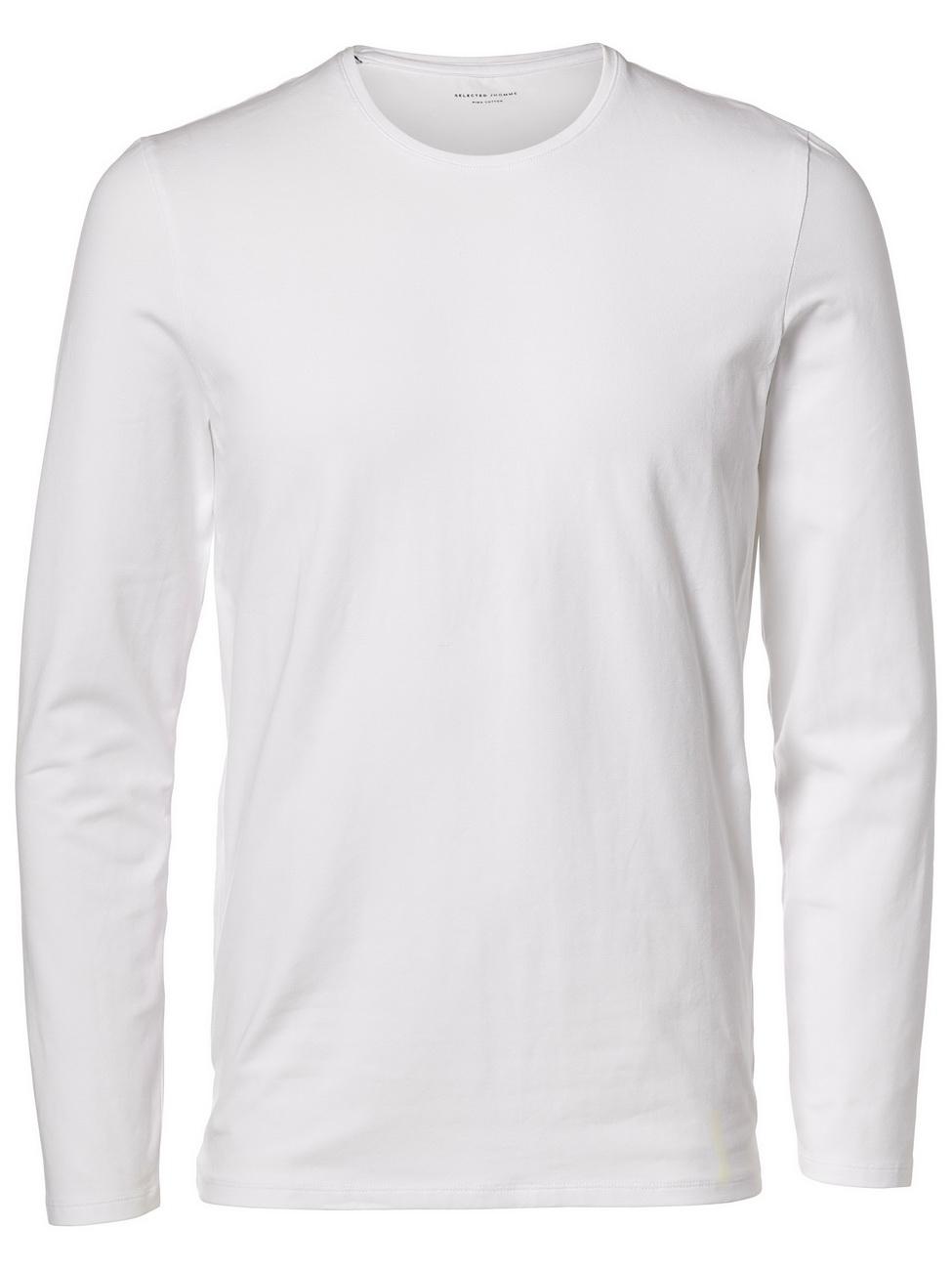 Selected Herren Pullover SHDBASIC LS O-NECK L, Bright White (16056946)