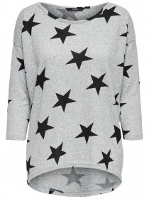 Light Grey Melange AOPW.BLACK STARS