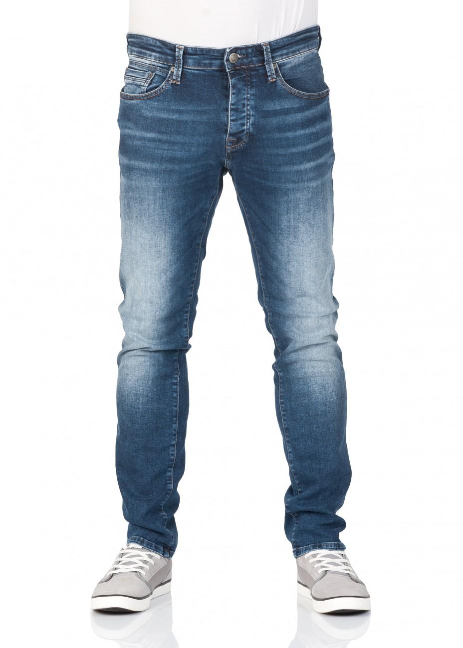 Mavi Herren Jeans Yves - Slim Fit - Blau - Mid Indigo Comfort