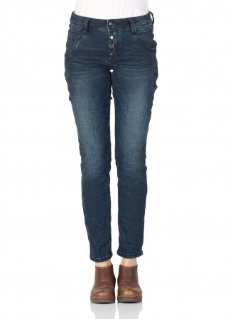 a359b2cb20be Tom Tailor Women s Jeans - Relaxed Tapered - Blue - Dark Blue Denim ...