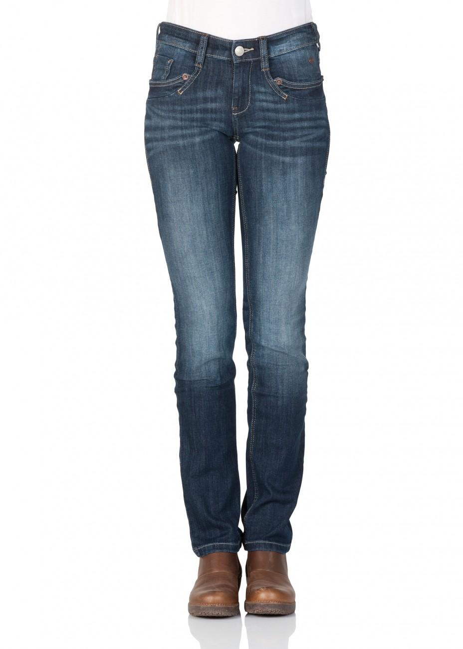 tom tailor damen jeans carrie straight fit blau dark. Black Bedroom Furniture Sets. Home Design Ideas