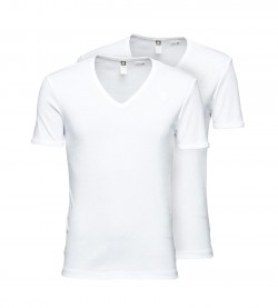 G-Star T-Shirt 2er Pack Herren Basic V-Neck