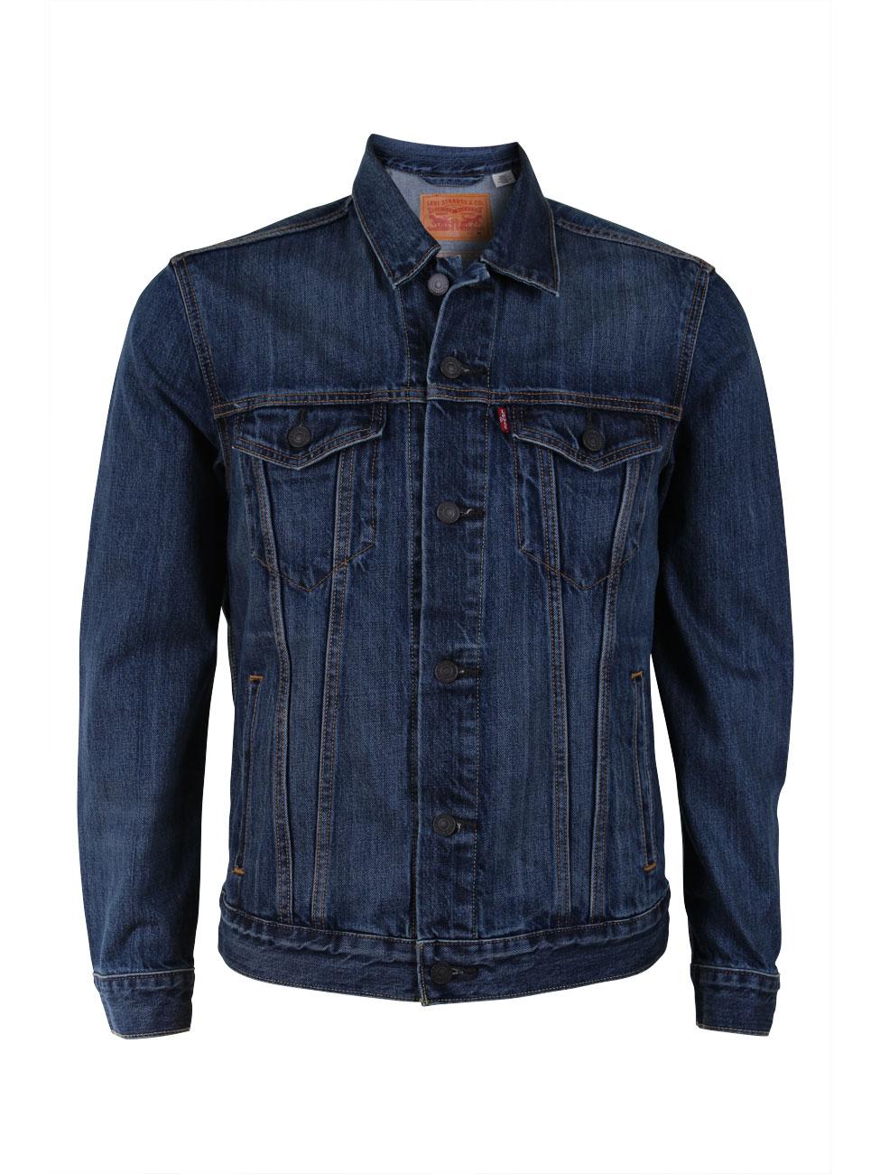 levi 39 s herren jeansjacke the trucker jacket regular fit blau the shelf kaufen bei jeans. Black Bedroom Furniture Sets. Home Design Ideas