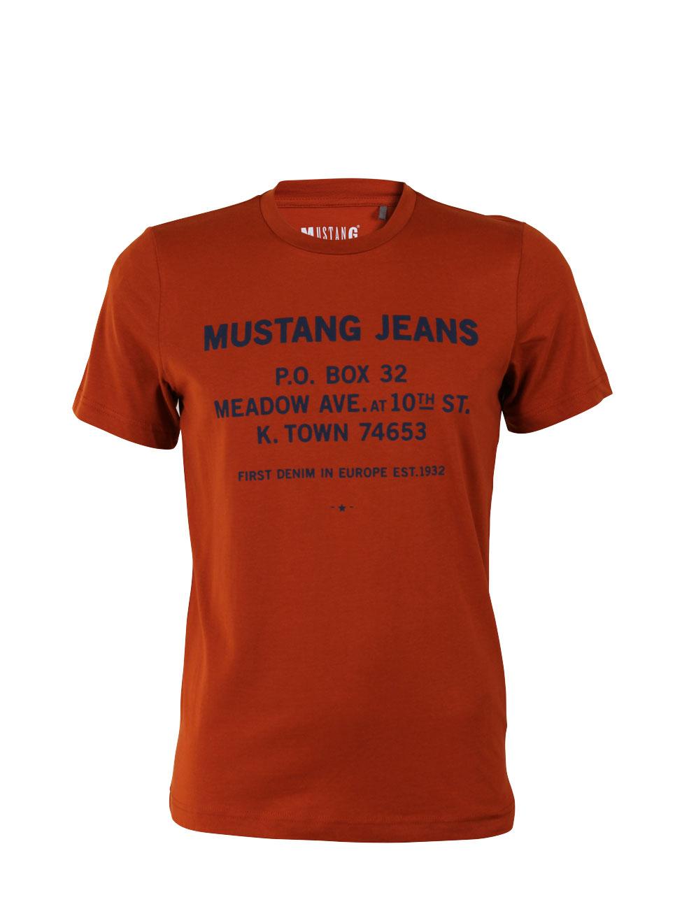 MUSTANG-T-shirt-pour-hommes-PRAIRIE-AVE-T-shirt