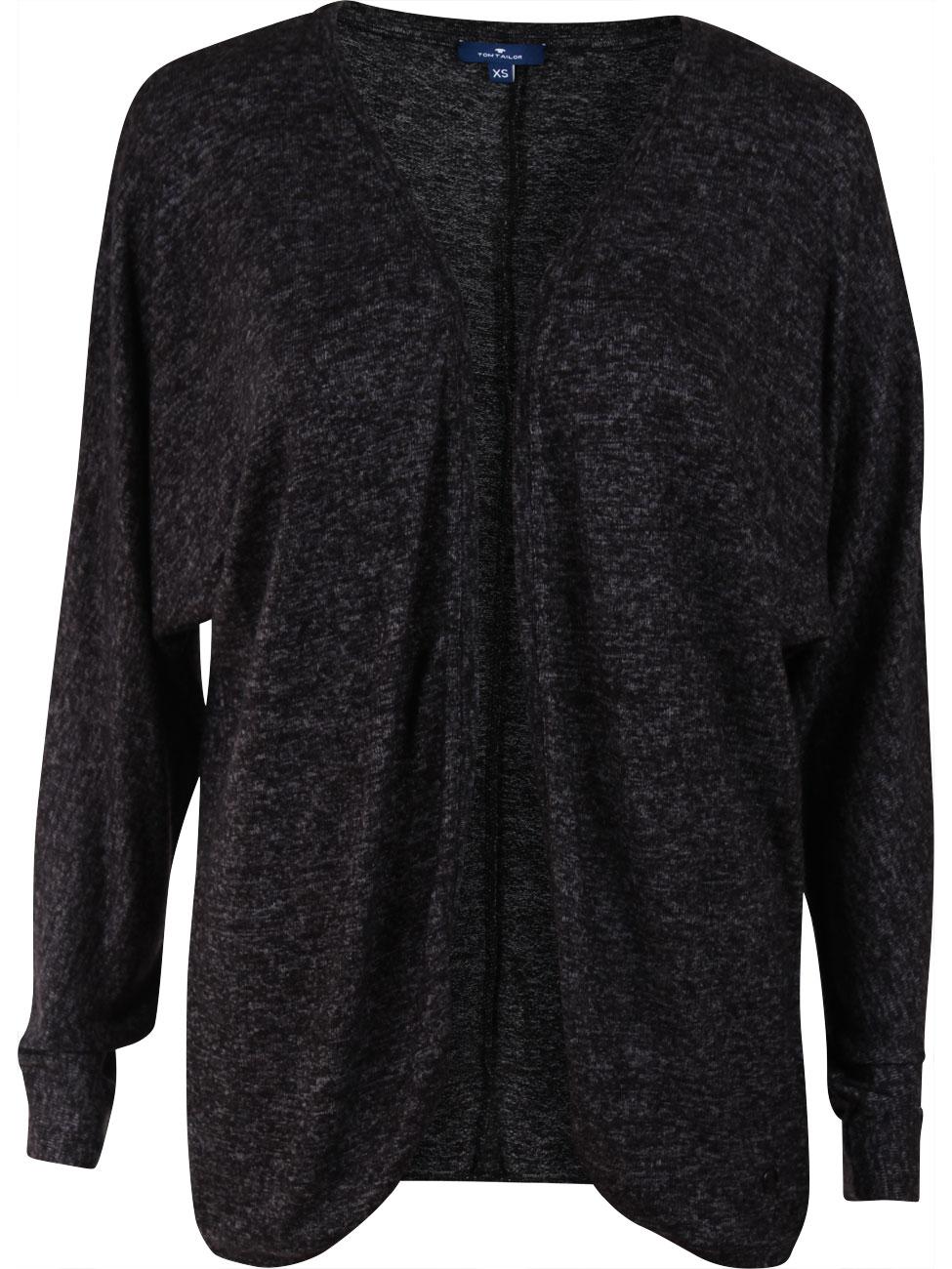 tom tailor damen strickjacke in melange optik kaufen jeans direct de. Black Bedroom Furniture Sets. Home Design Ideas