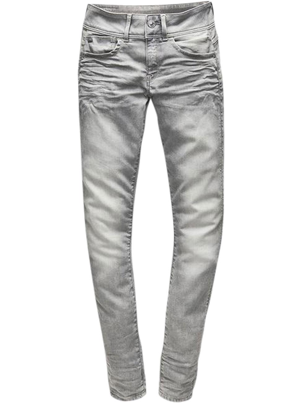 g star damen jeans lynn mid waist skinny fit grau. Black Bedroom Furniture Sets. Home Design Ideas