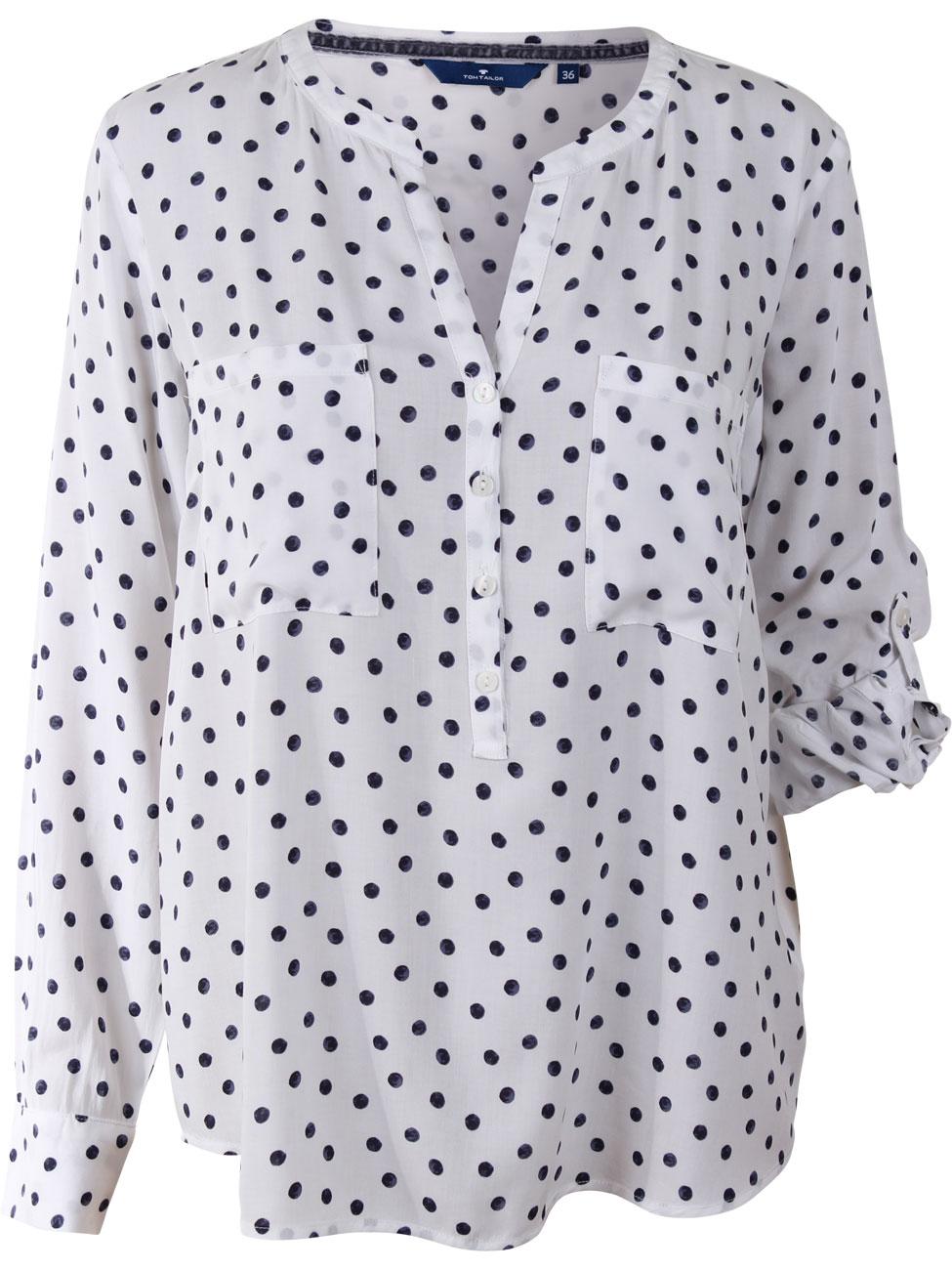 tom tailor damen bluse mit punkten kaufen jeans direct de. Black Bedroom Furniture Sets. Home Design Ideas