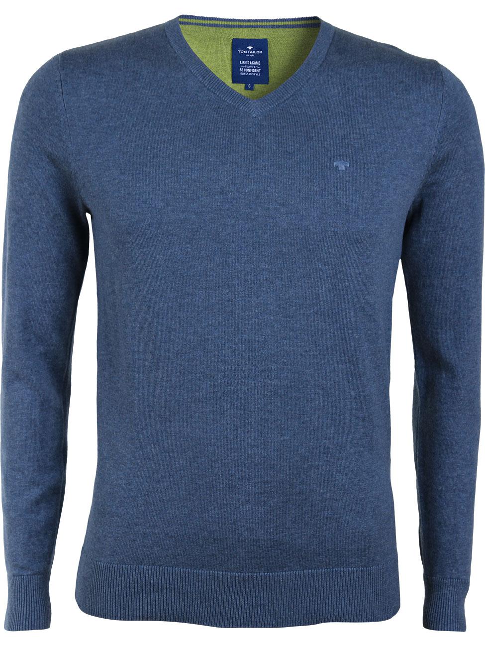 tom tailor herren pullover basic v neck sweater kaufen direct