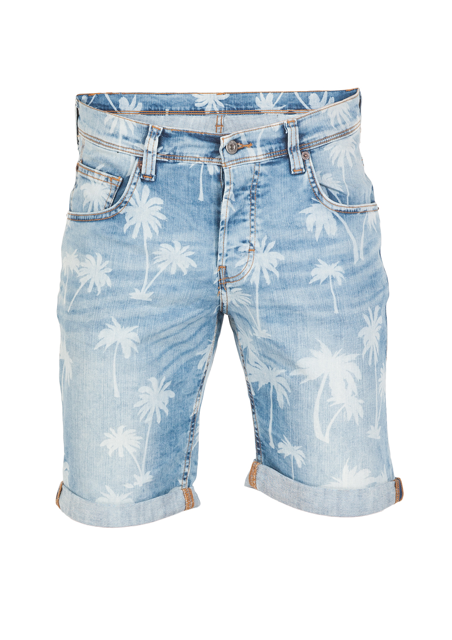 mustang herren jeans short chicago grau light blue ebay. Black Bedroom Furniture Sets. Home Design Ideas