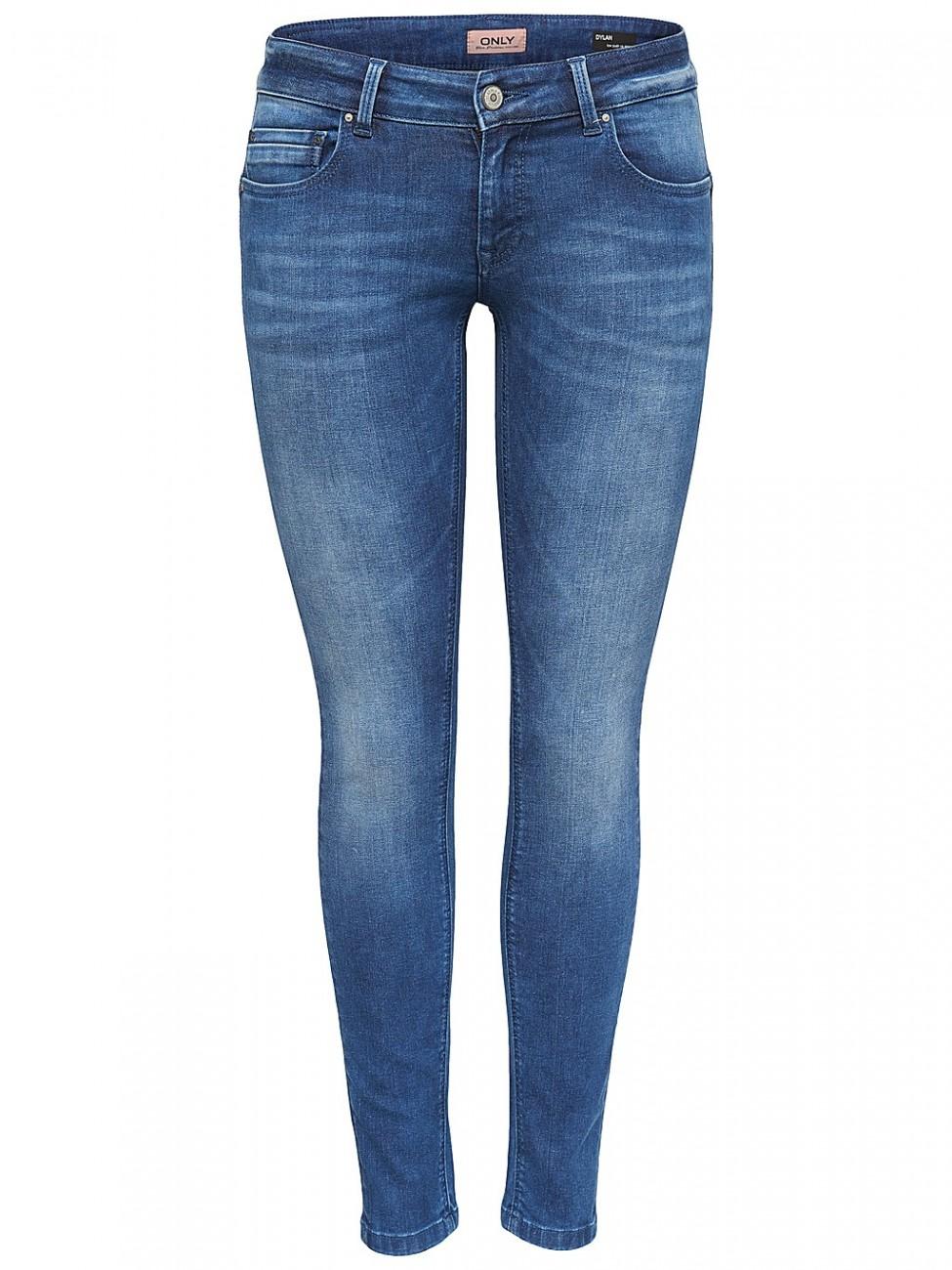 only damen jeans onldylan low push up dnm jea soo65 skinny fit blau medium ebay. Black Bedroom Furniture Sets. Home Design Ideas