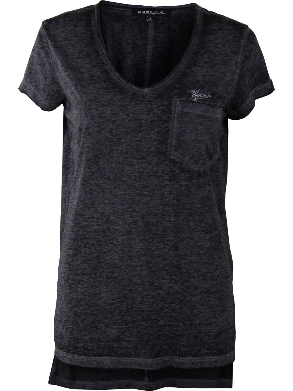 khujo damen t shirt lorelei mit brusttasche kaufen. Black Bedroom Furniture Sets. Home Design Ideas