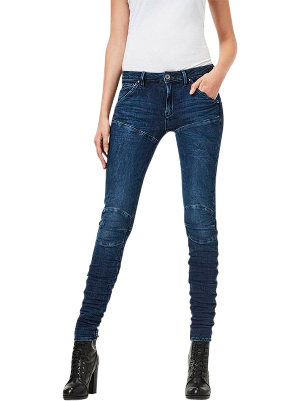 g star damen jeans 5620 g star elwood staq 3d mid waist blau 3d dark aged jeans direct de. Black Bedroom Furniture Sets. Home Design Ideas