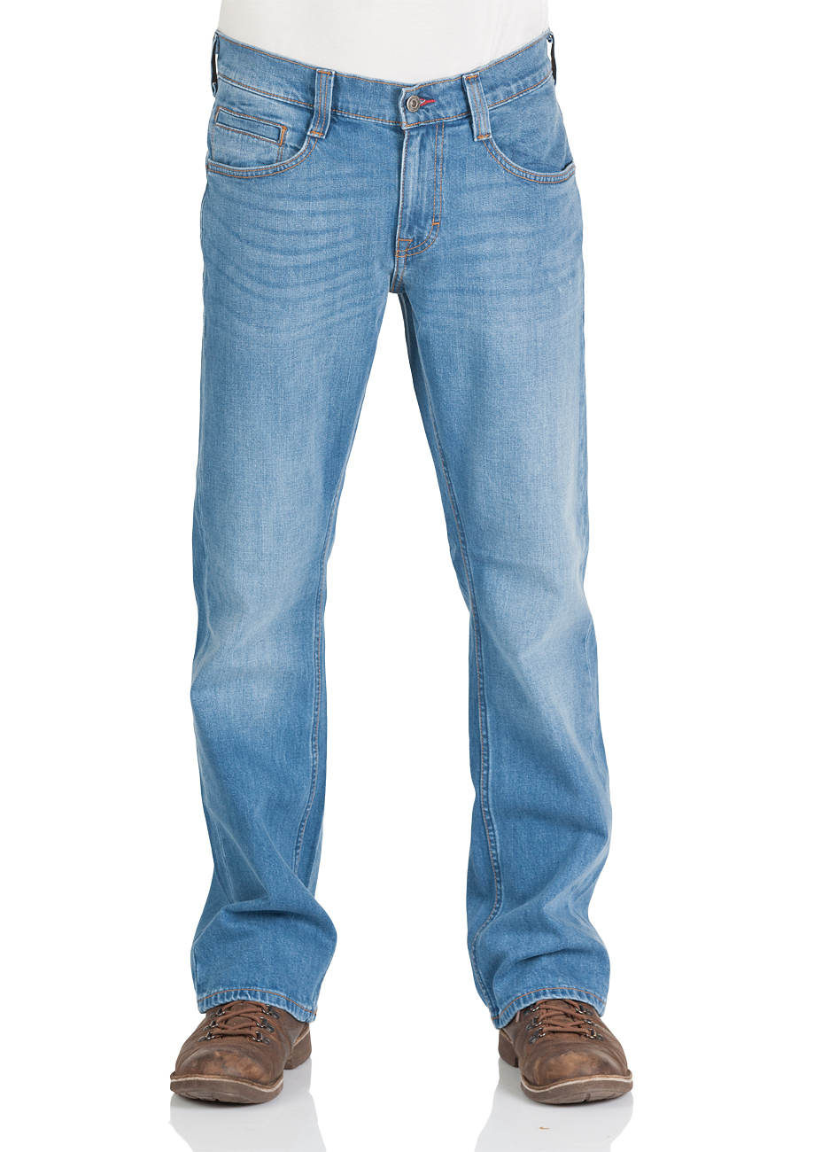 Mustang Herren Jeans Oregon - Bootcut - Blau - Light Blue - Mid Blue - Dark Blue