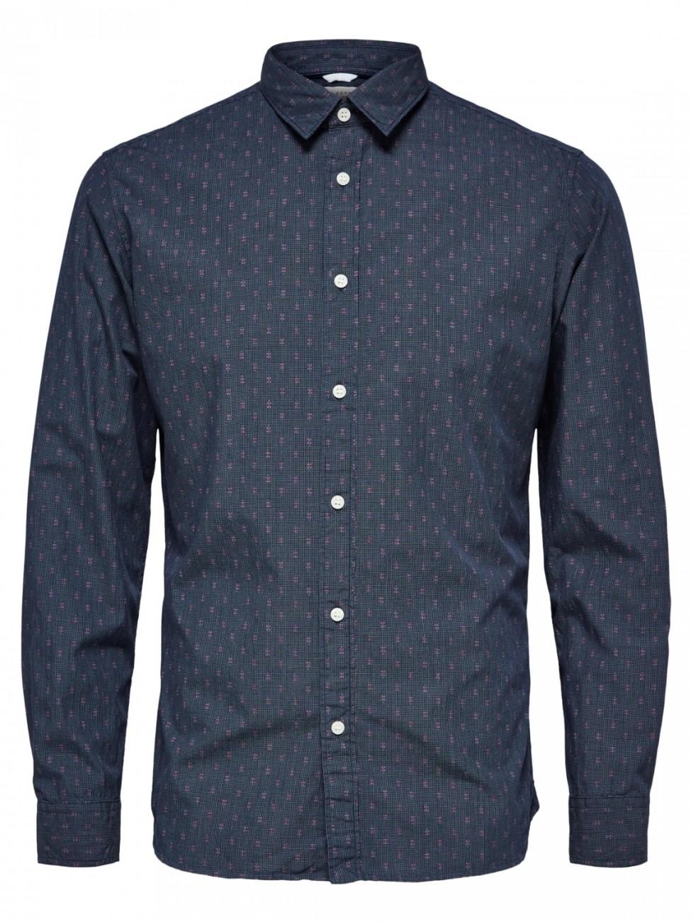 SELECTED-Hombre-Camisa-Informal-shhonemoonie-Camiseta-LS