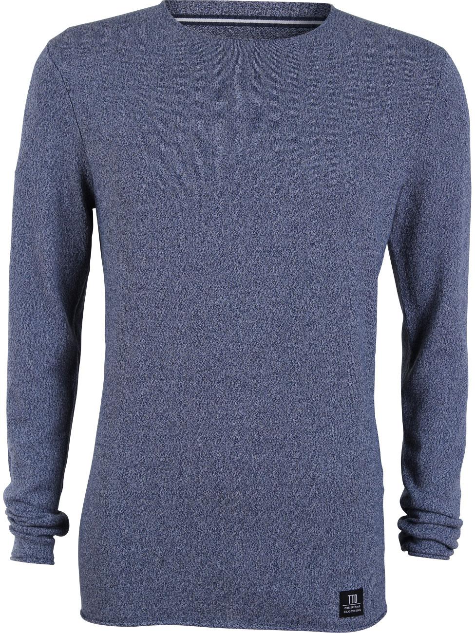 tom tailor denim herren sweater structured crewneck ebay. Black Bedroom Furniture Sets. Home Design Ideas