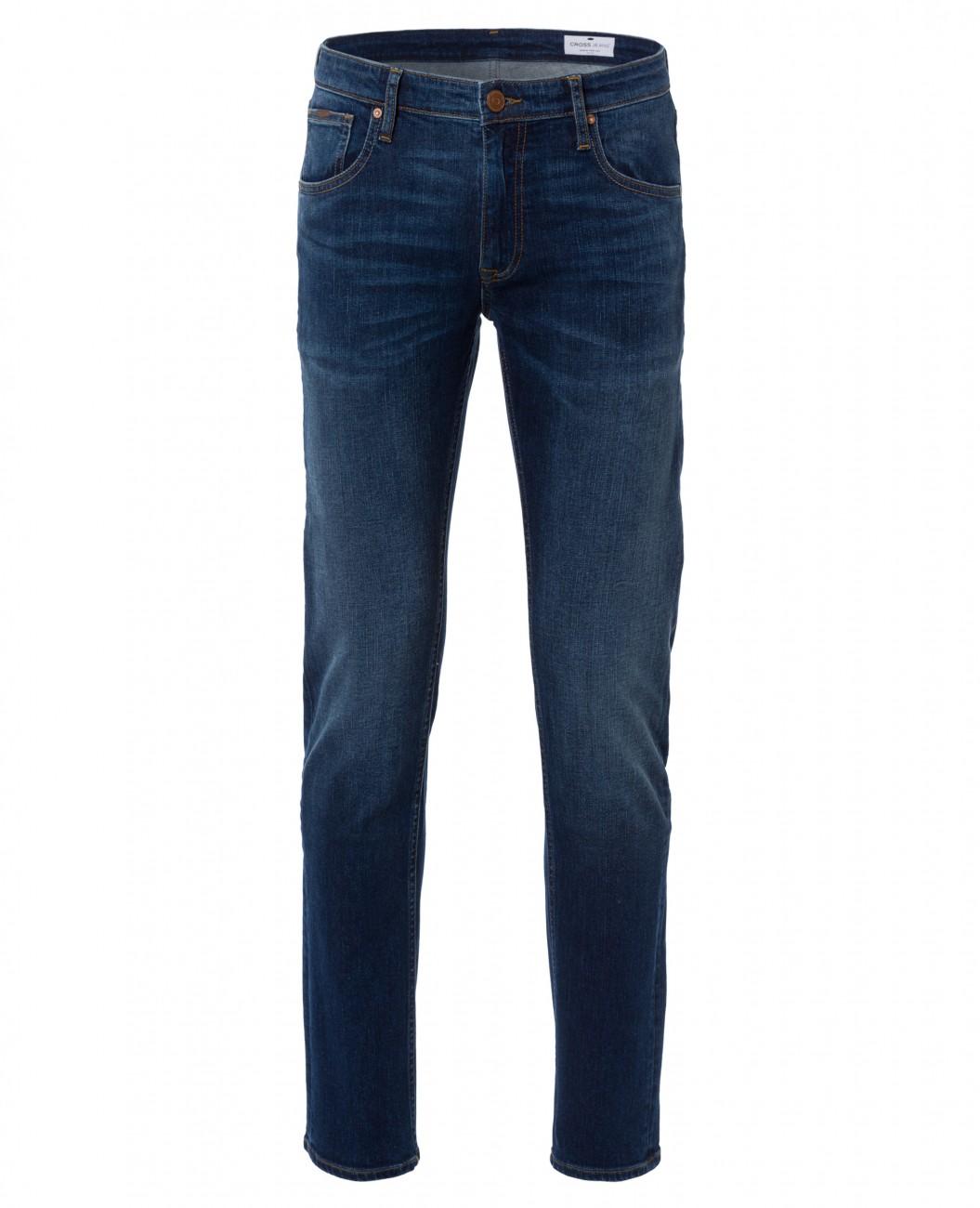 cross herren jeans damien slim fit blau stone ebay. Black Bedroom Furniture Sets. Home Design Ideas