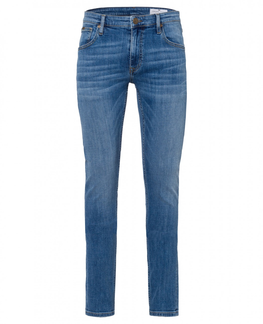 cross herren jeans damien slim fit blau light blue kaufen jeans direct de. Black Bedroom Furniture Sets. Home Design Ideas
