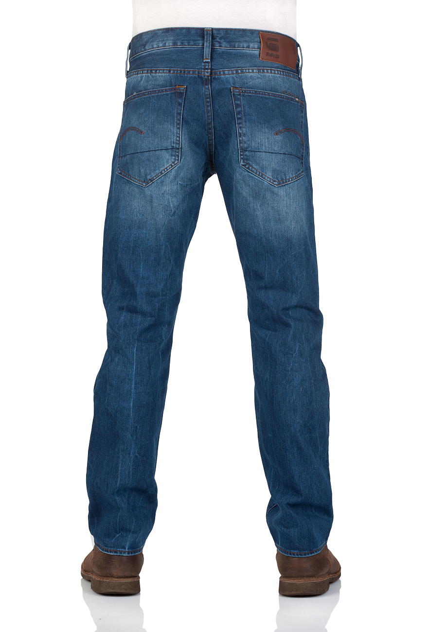G-Star Herren Jeans 3301 Straight Fit - Blau - Medium Aged