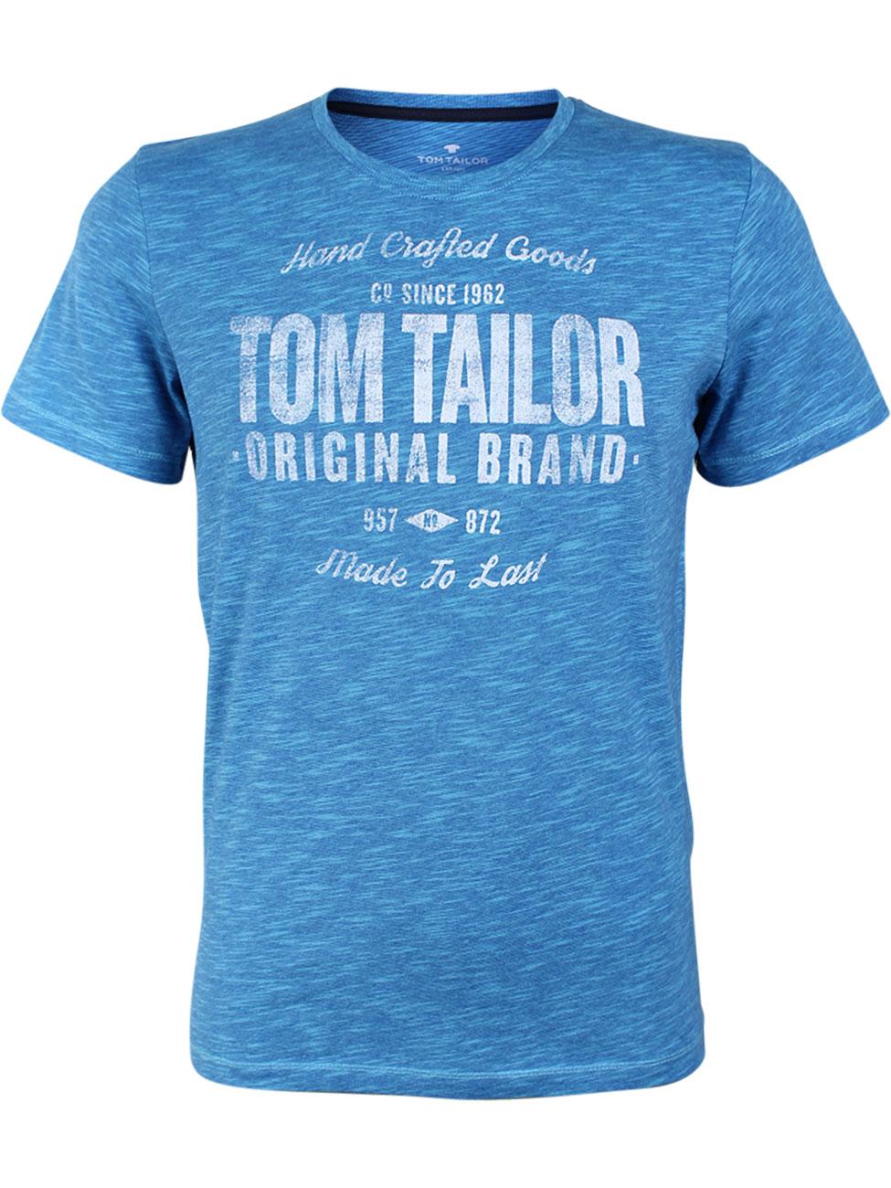 tom tailor herren t shirt fine dyed print kaufen jeans direct de. Black Bedroom Furniture Sets. Home Design Ideas