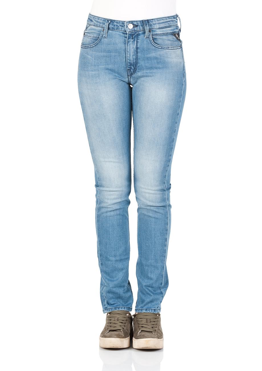 replay damen jeans jacksy regular fit blau blue. Black Bedroom Furniture Sets. Home Design Ideas