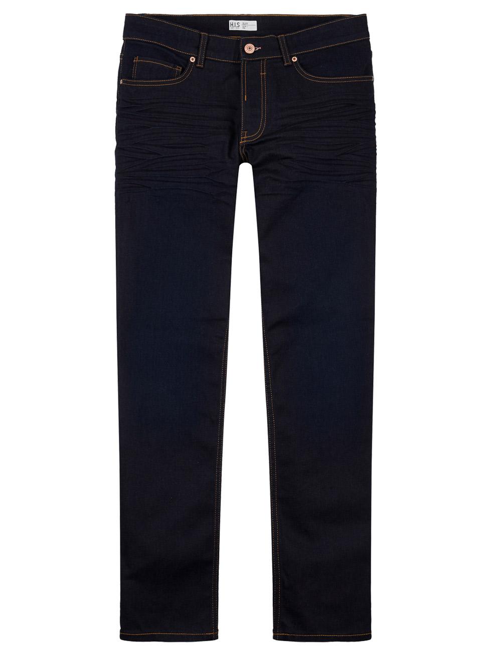 h i s herren jeans cliff slim fit mid waist blau. Black Bedroom Furniture Sets. Home Design Ideas