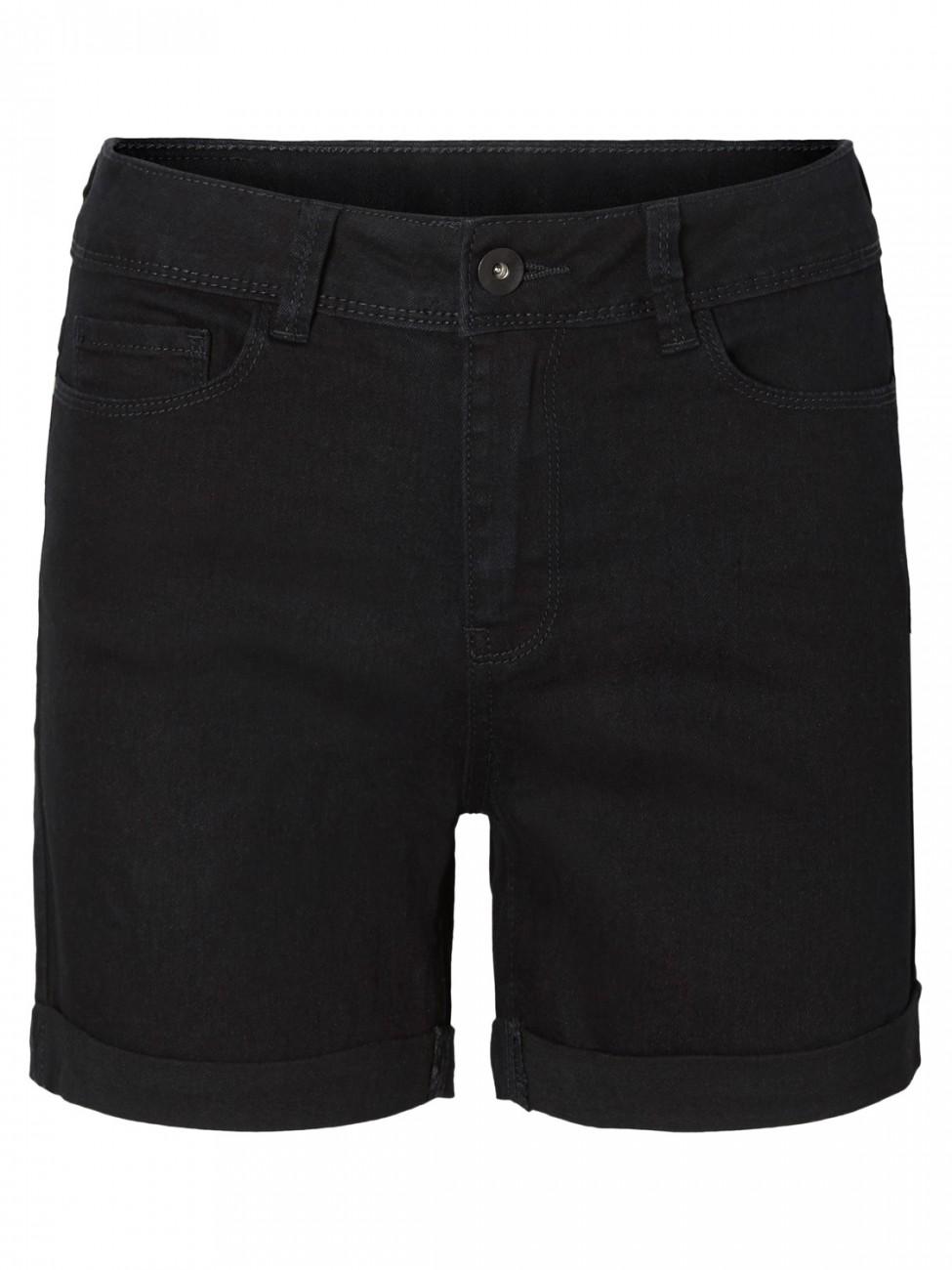 Vero Moda Damen Shorts VMHOT SEVEN NW DNM FOLD SHORTS MIX