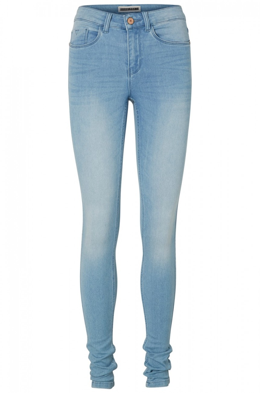 Noisy May Damen Jeans NMEXTREME LUCY NW SOFT JEANS VI101 - Super Slim Fit - Blau - Light Blue