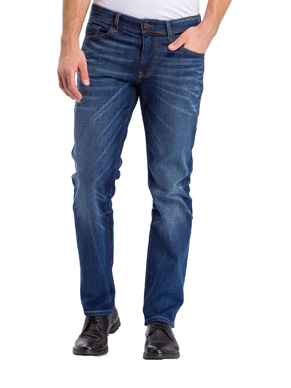 Cross Herren Jeans Antonio Relax Fit - Blau - Dark Mid Blue