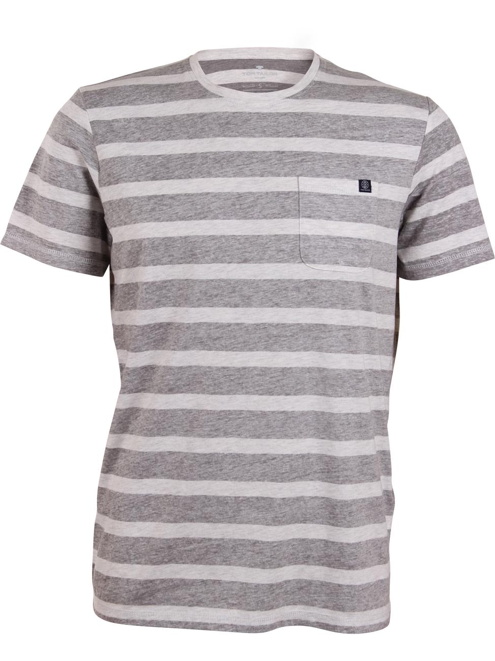 Tom Tailor Herren Rundhals T-Shirt Striped Tee