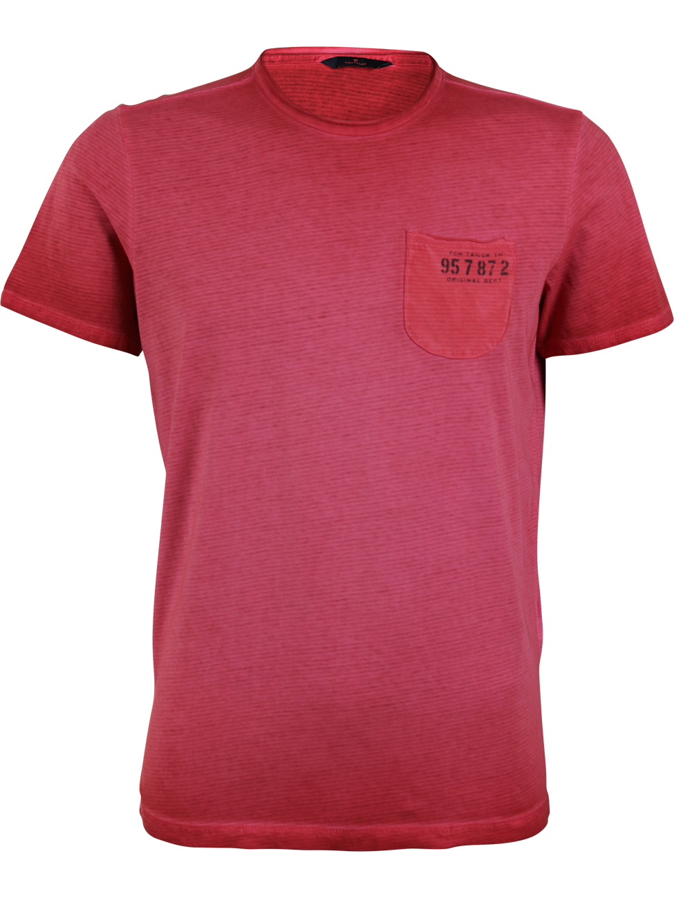 Tom Tailor Herren Rundhals T-Shirt mit Brusttasche