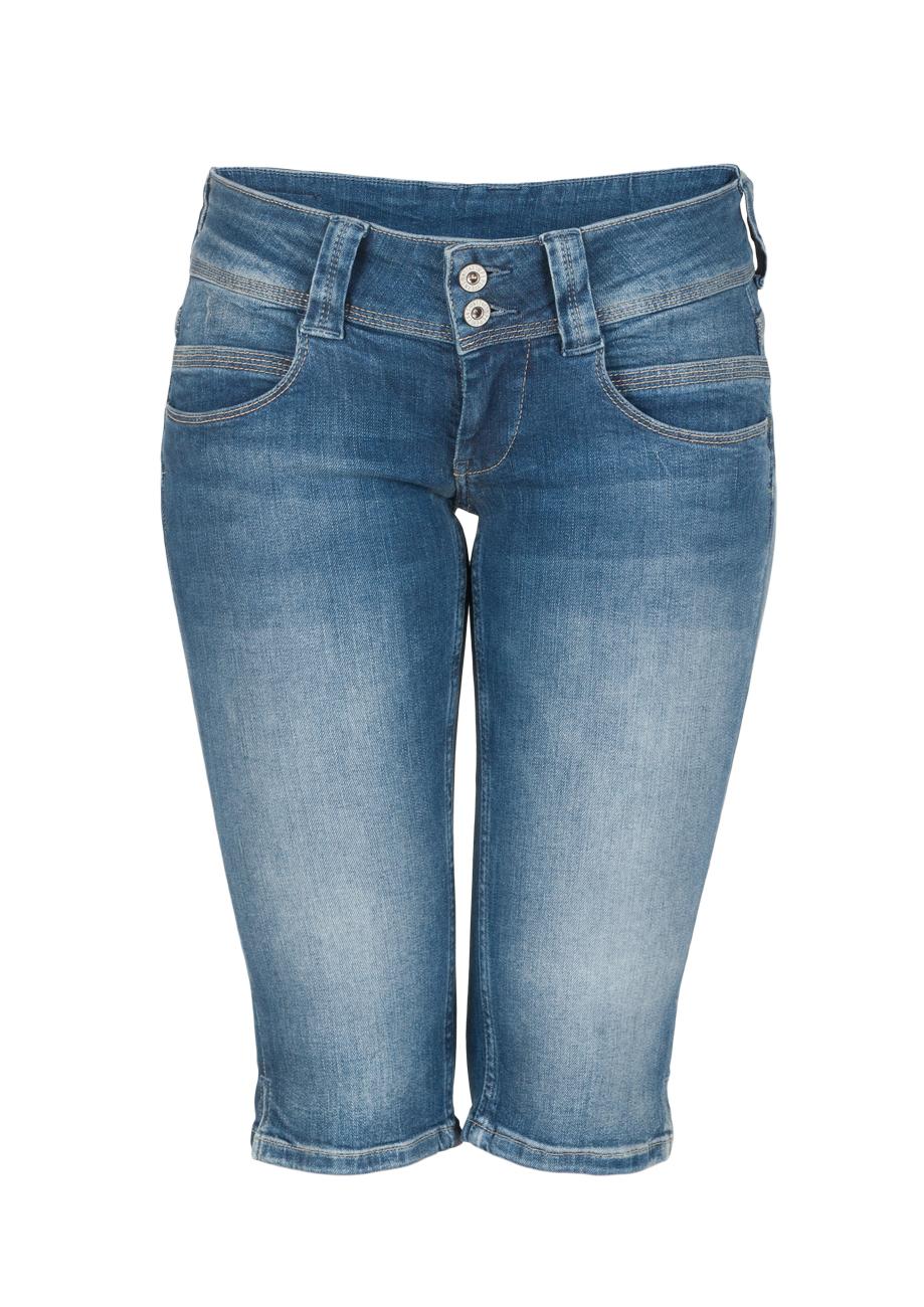 pepe jeans damen bermuda venus blau denim kaufen jeans direct de. Black Bedroom Furniture Sets. Home Design Ideas