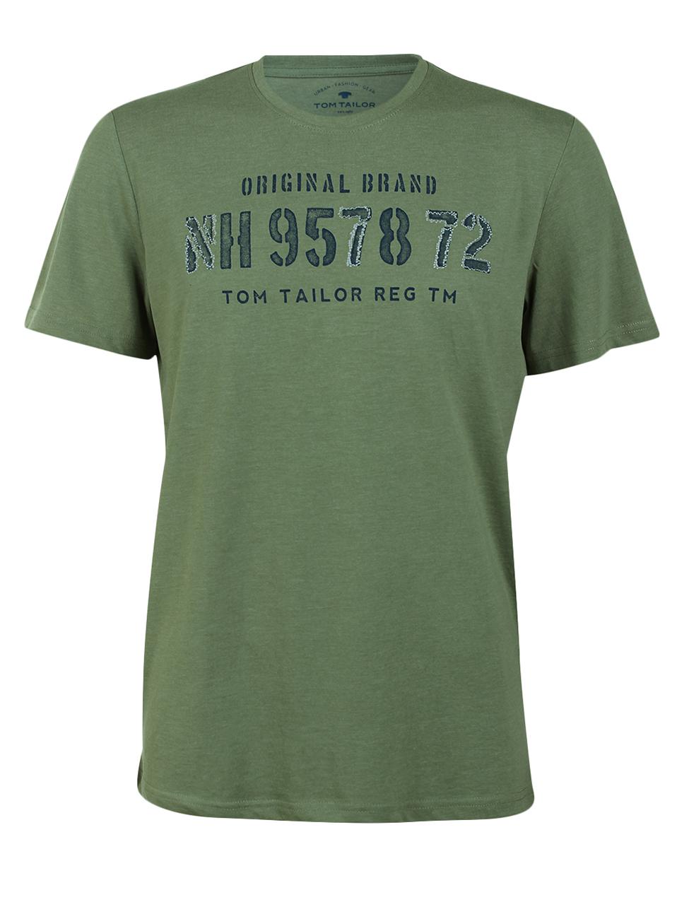 Tom Tailor Herren Rundhals T-Shirt Print