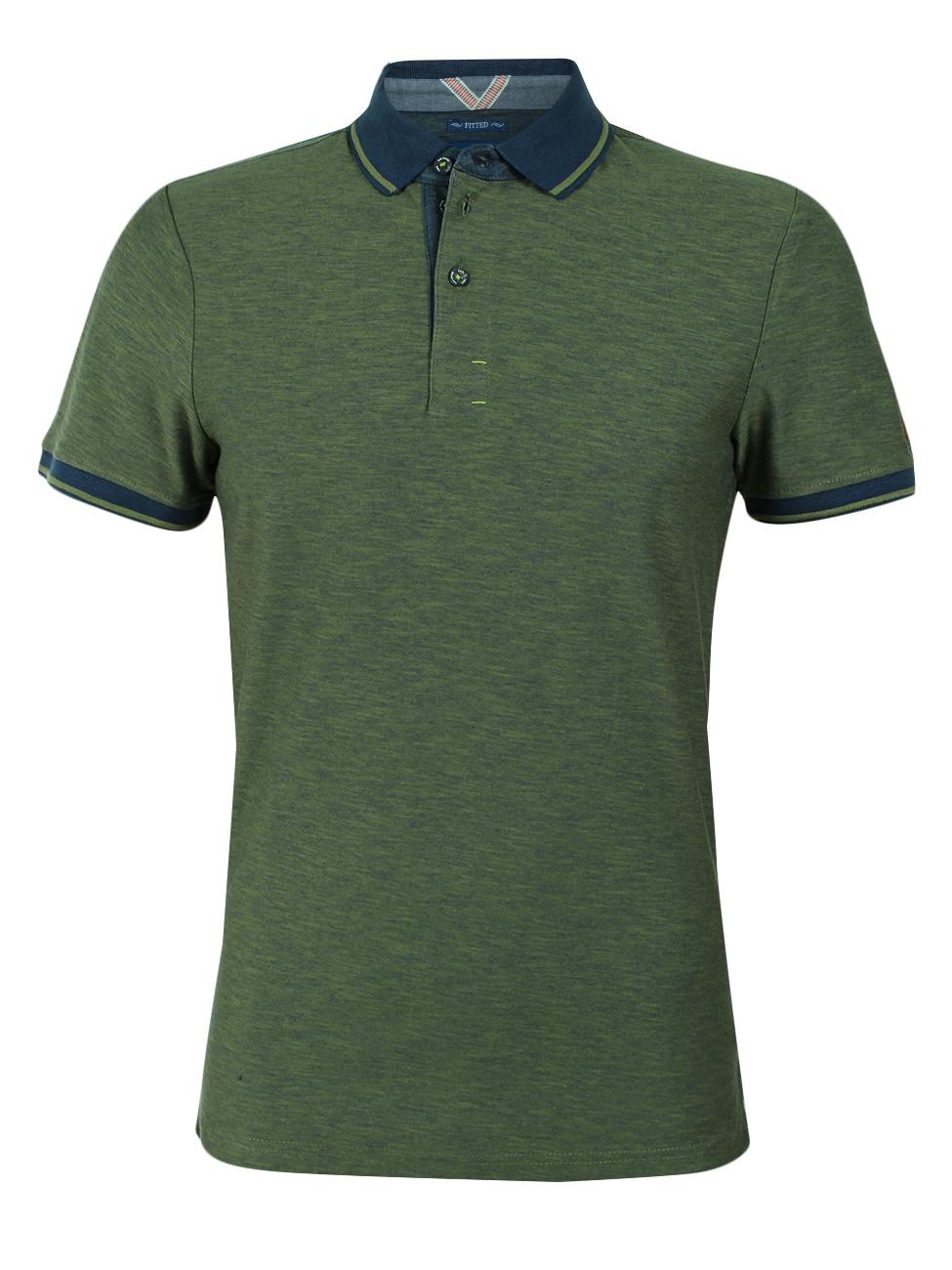 Tom Tailor Herren Poloshirt Plated Fabric