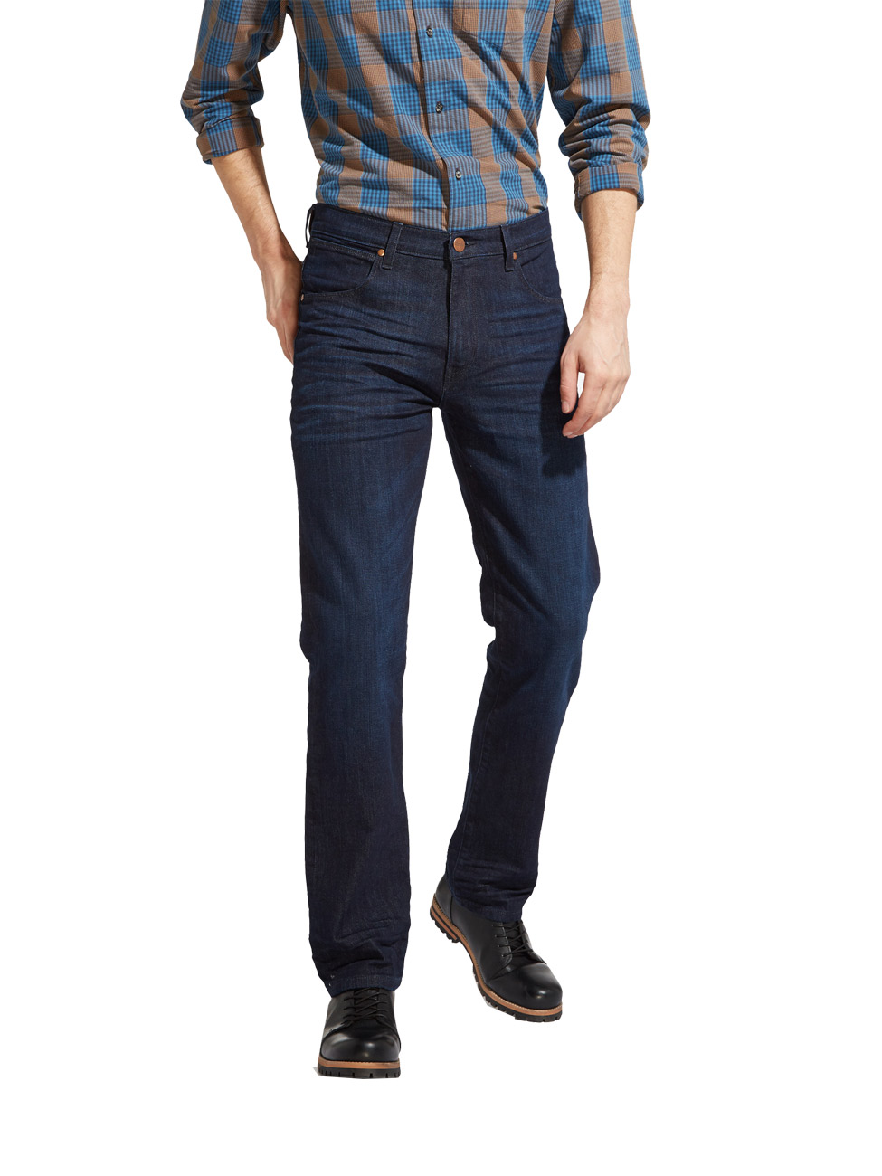 Wrangler Herren Jeans Arizona Stretch Regular Fit - Blau - Best Blue