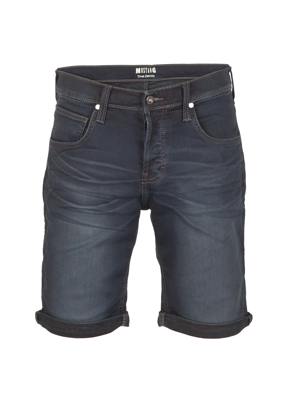 Mustang Herren Jeans Short Chicago - Blau - Dark Blue Denim   eBay e68cd1d358