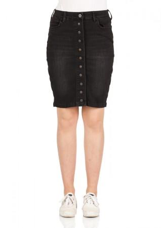 c2f6b7707 Details about Lee Ladies Denim Skirt Pencil - Black - Charcoal Black
