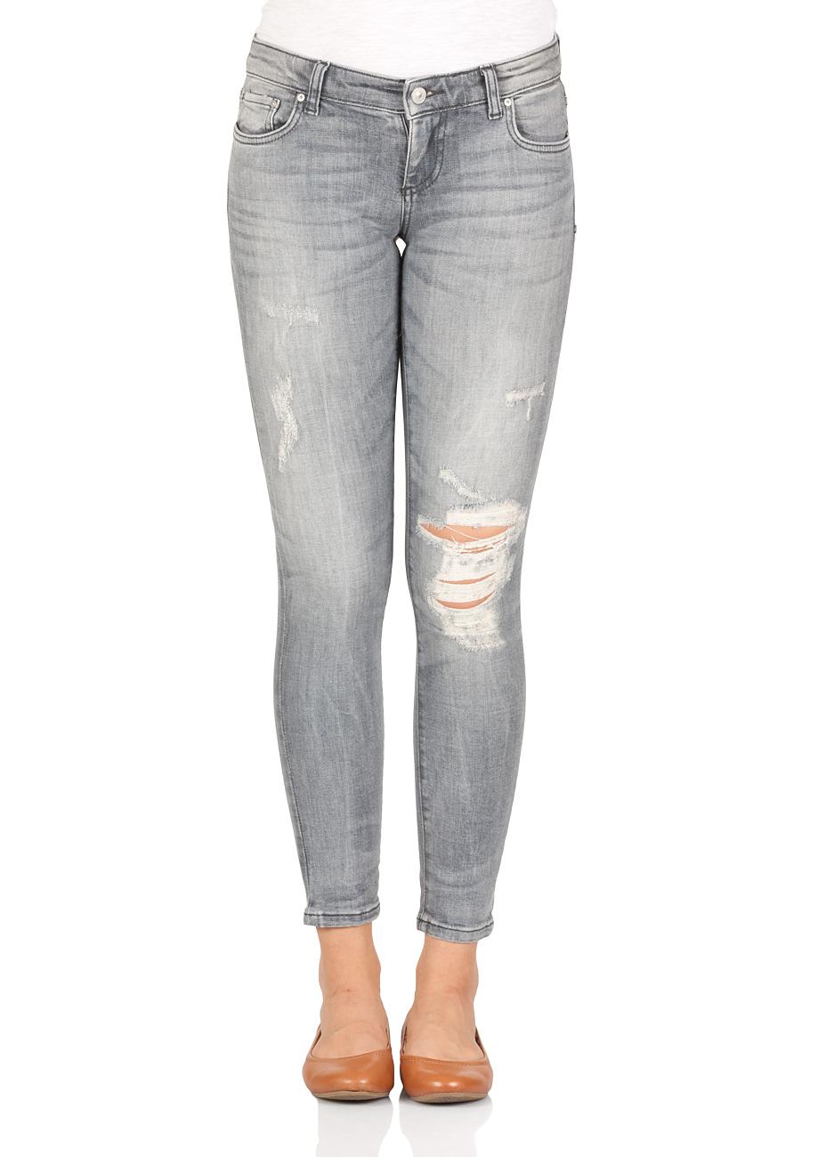 LTB Damen Jeans Mina Slim Fit - Grau - Anthea Wash   eBay 646373da4f