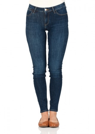 Wrangler Damen Jeans Super Skinny Fit Blau Summer Night